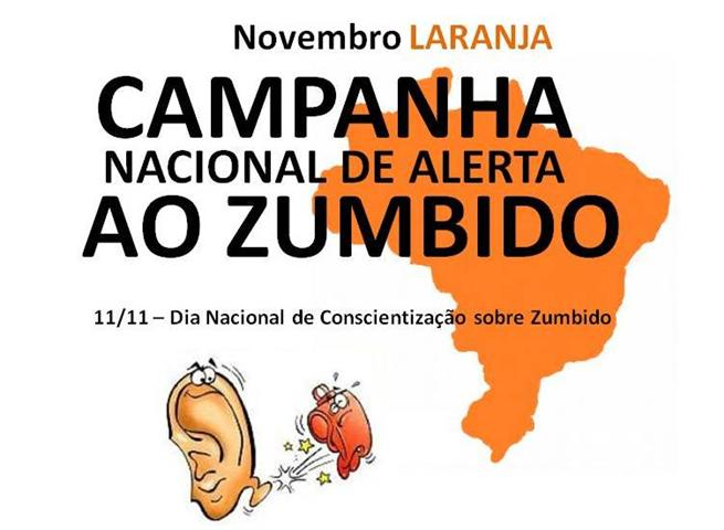 campanha nacional de alerta ao zumbido - novembro laranja