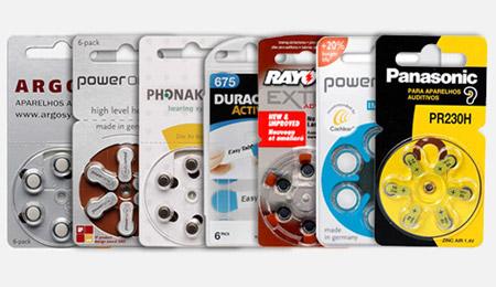 Marcas de Baterias para Aparelhos Auditivos