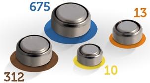 Modelos de baterias de aparelhos auditivos